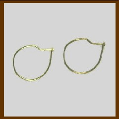Wire Hoops - 6 pairs