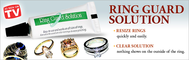 Ring Guard Solution - Resize rings quick and easily - Clear Solution nothing shows on the outside of the ring